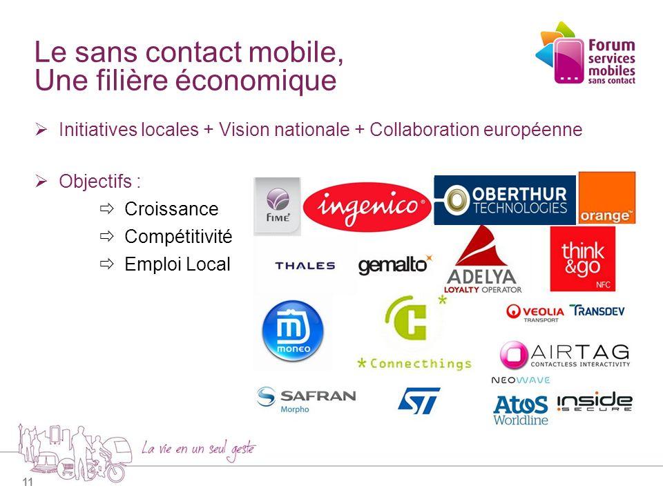 Le sans contact mobile, Une filière économique