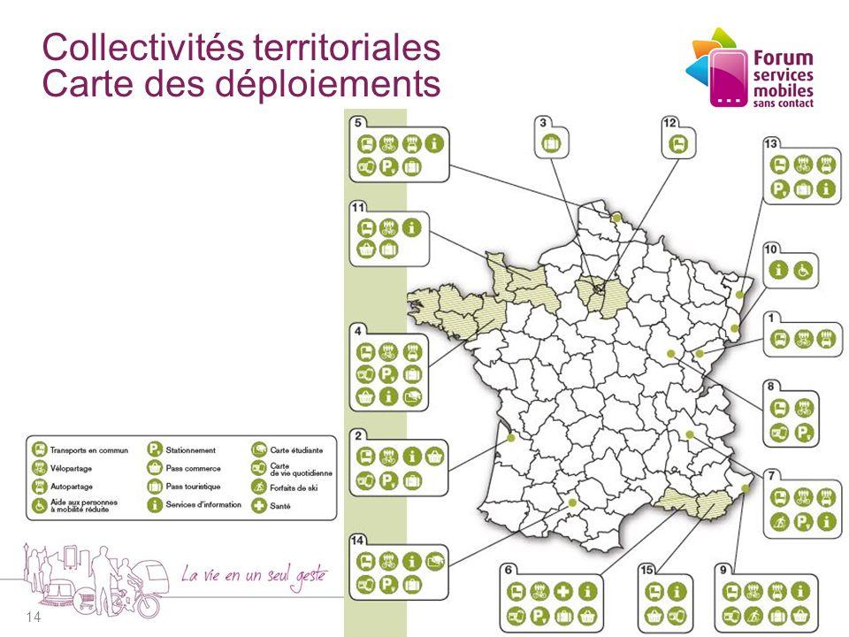 Collectivités territoriales Carte des déploiements