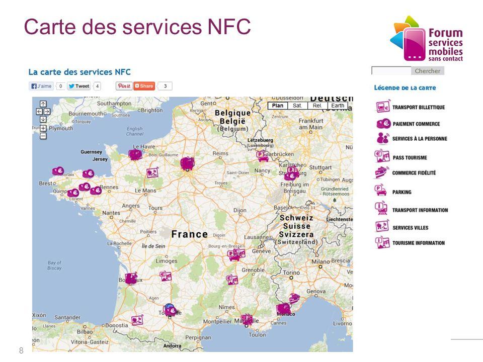 Carte des services NFC