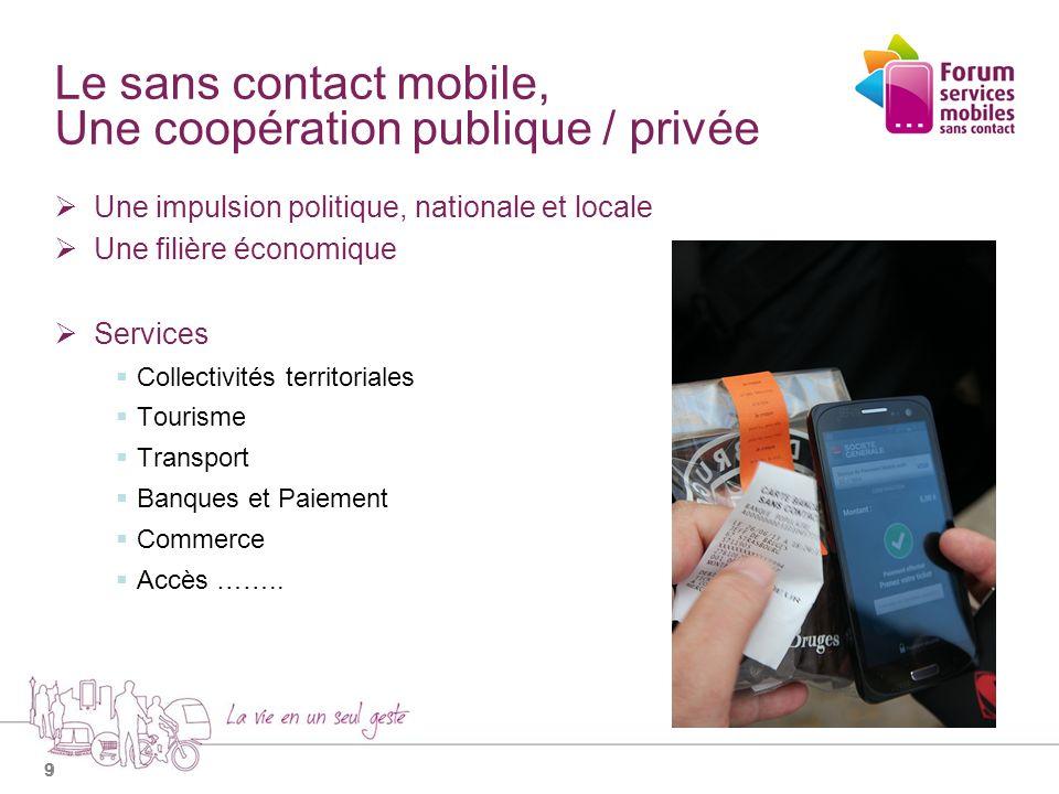 Le sans contact mobile, Une coopération publique / privée