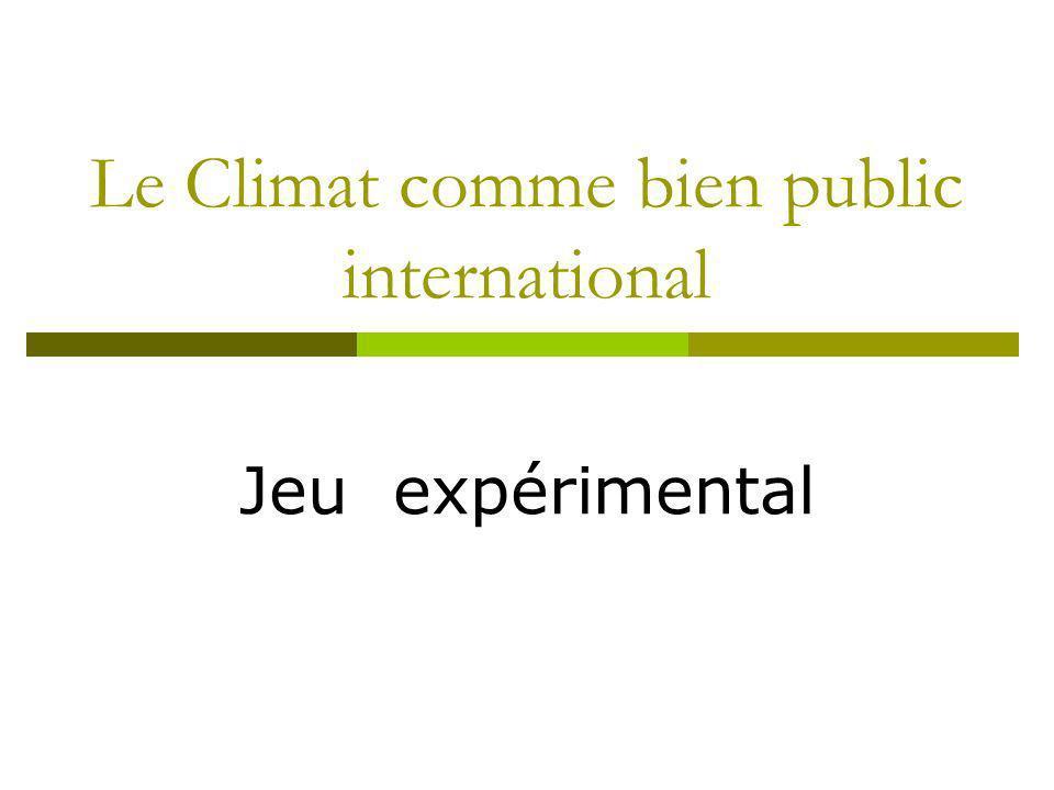 Le Climat comme bien public international