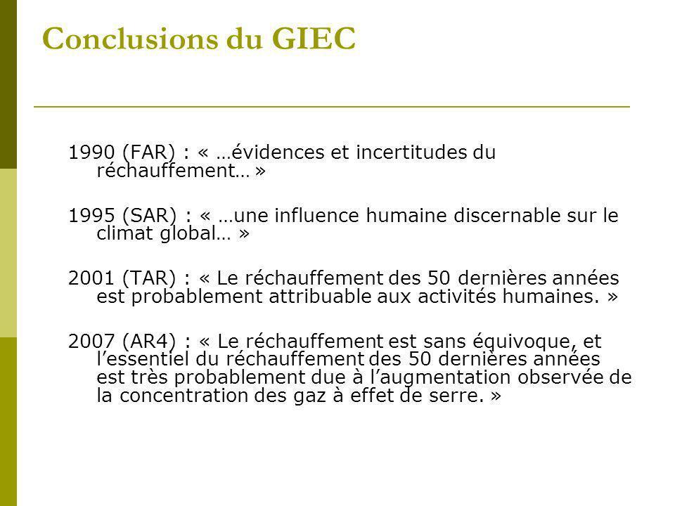 Conclusions du GIEC