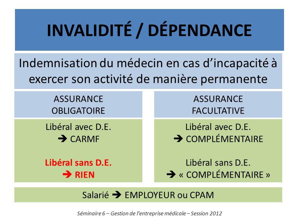 Invalidité / dépendance