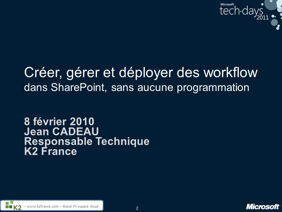 8 février 2010 Jean CADEAU Responsable Technique K2 France
