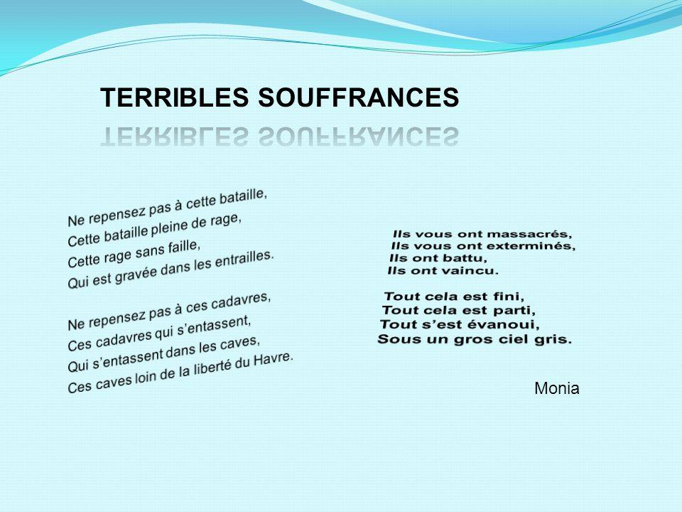 TERRIBLES SOUFFRANCES