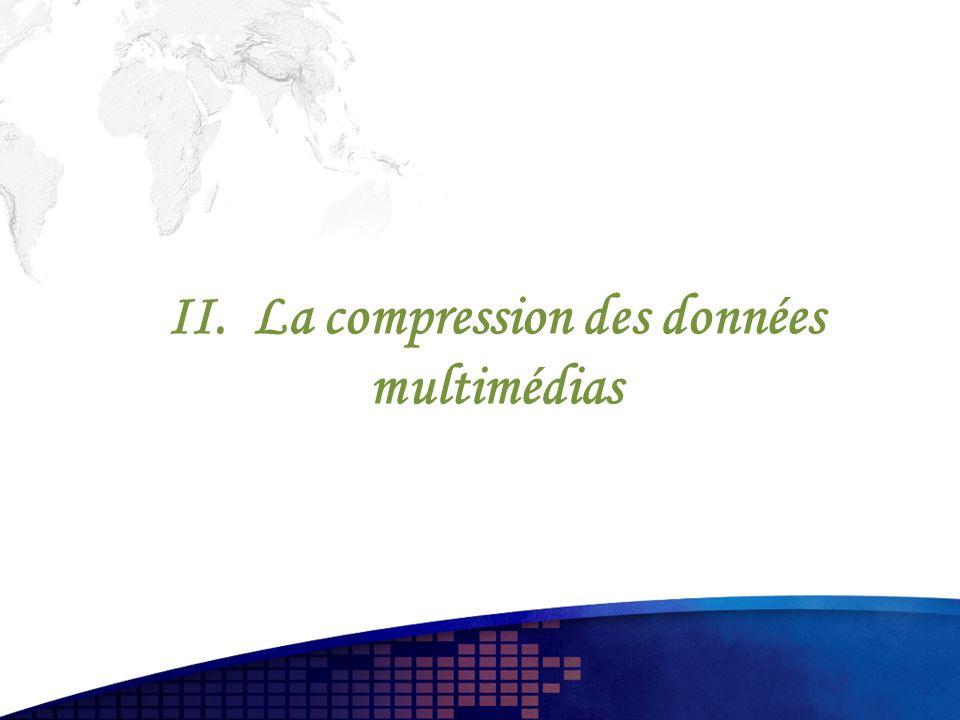 II. La compression des données multimédias