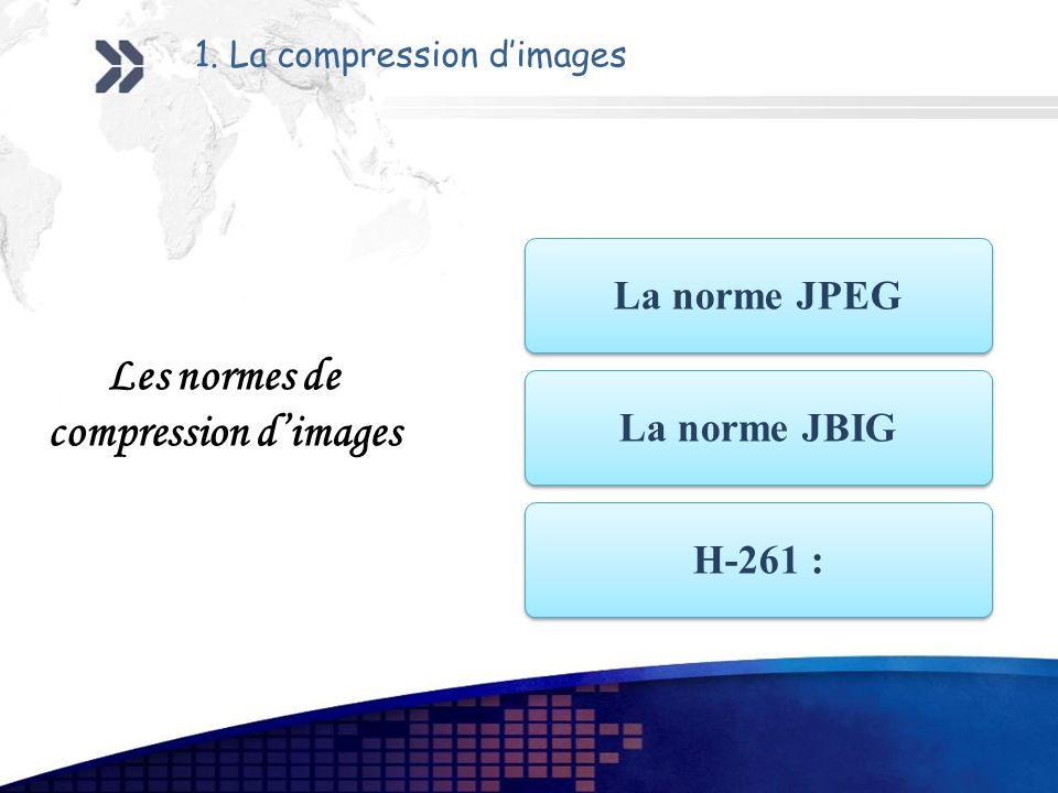 Les normes de compression d'images