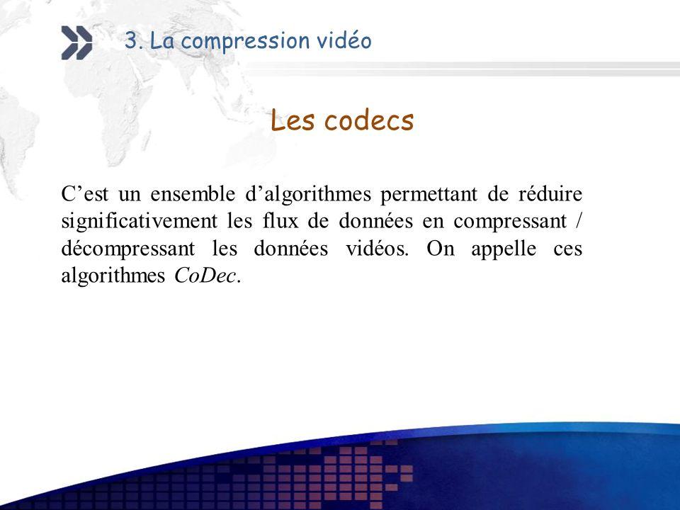 Les codecs 3. La compression vidéo