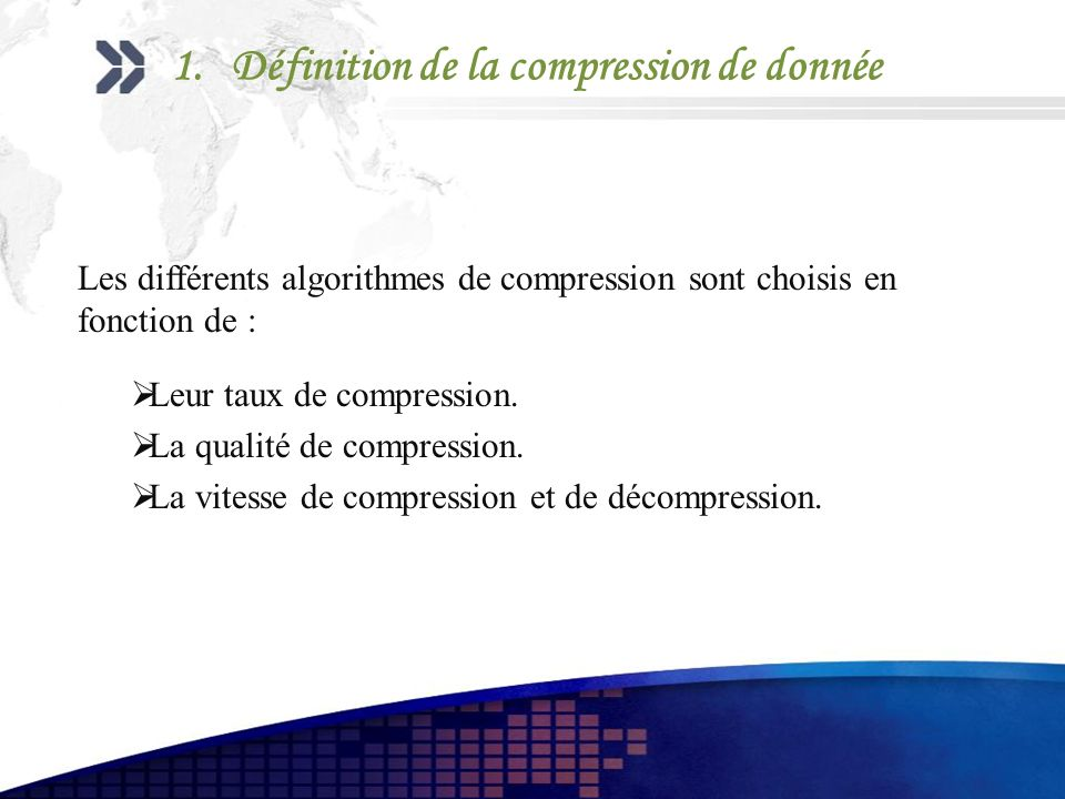Définition de la compression de donnée