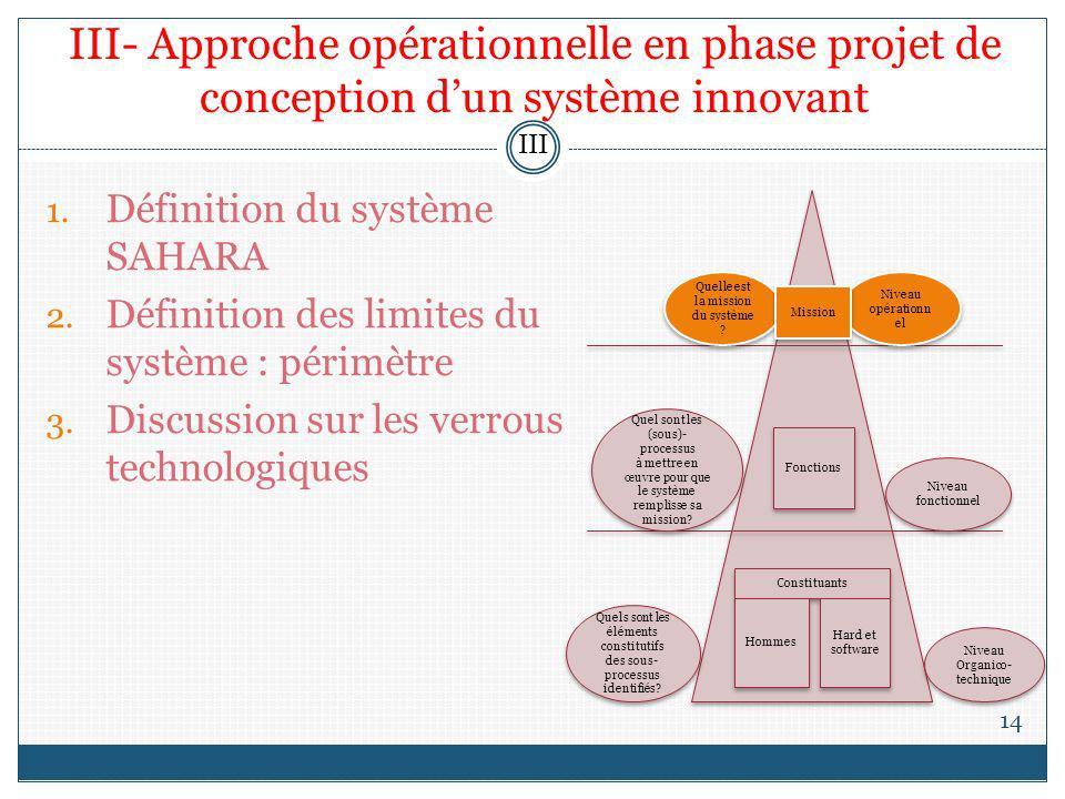 III- Approche opérationnelle en phase projet de conception d'un système innovant