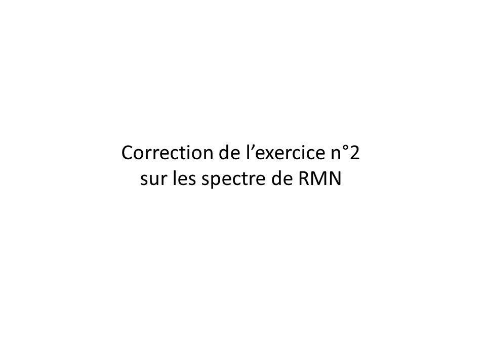 Correction de l'exercice n°2 sur les spectre de RMN