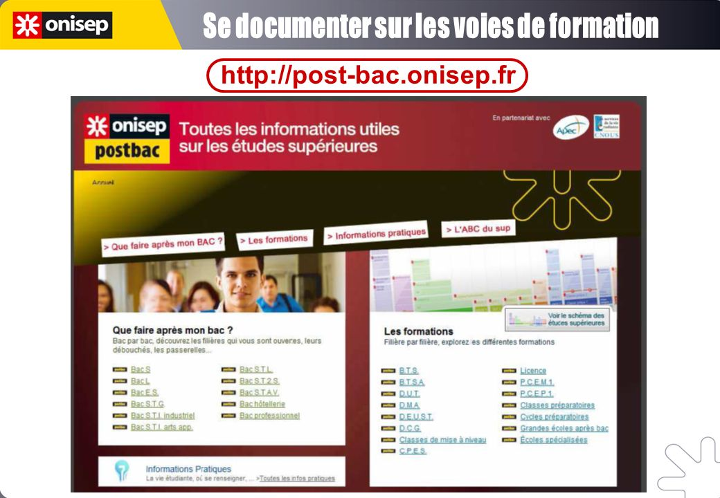Se documenter sur les voies de formation