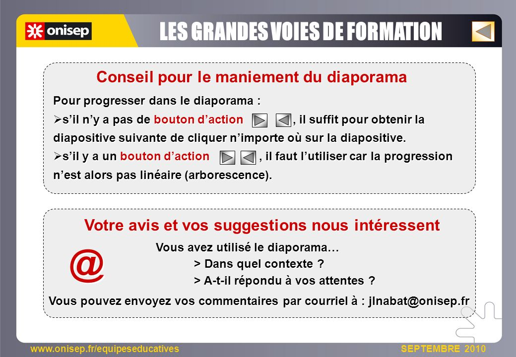 @ LES GRANDES VOIES DE FORMATION