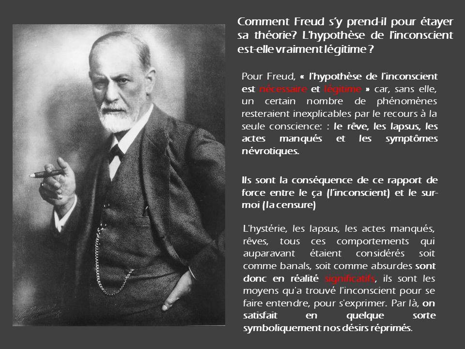 Comment Freud s'y prend-il pour étayer sa théorie