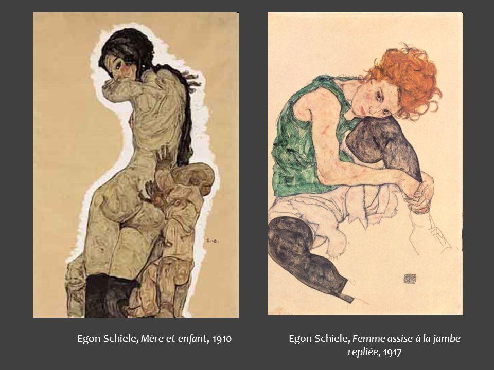 Egon Schiele, Mère et enfant, 1910