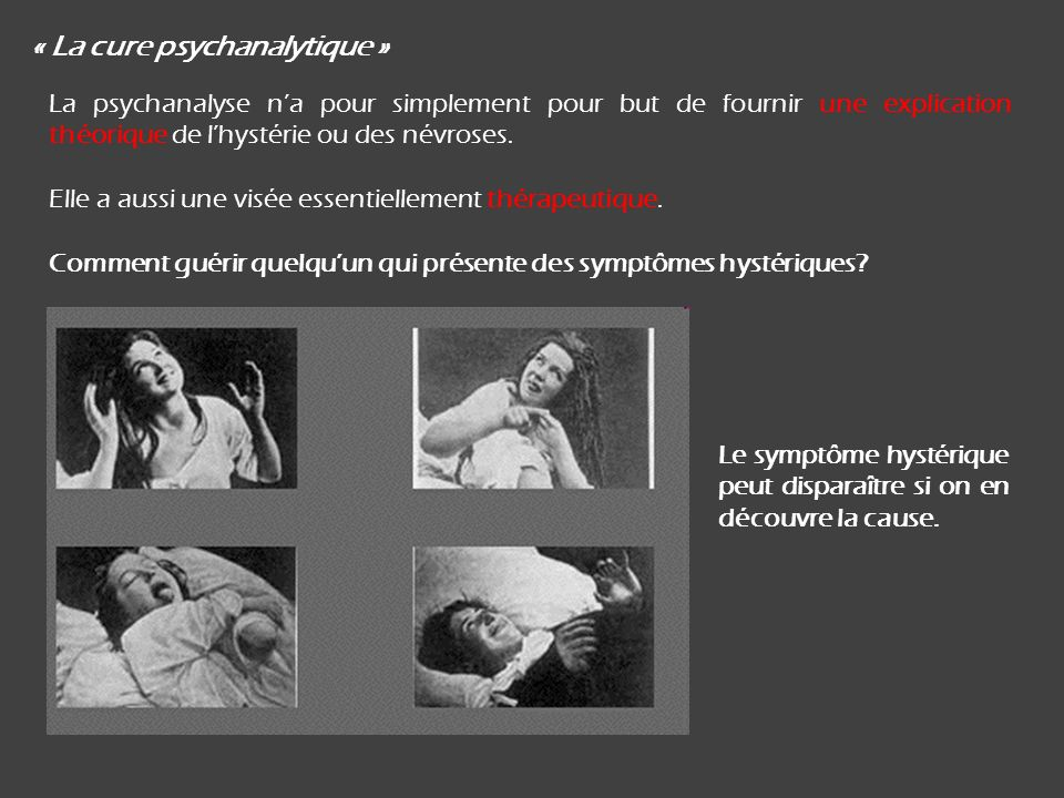 « La cure psychanalytique »