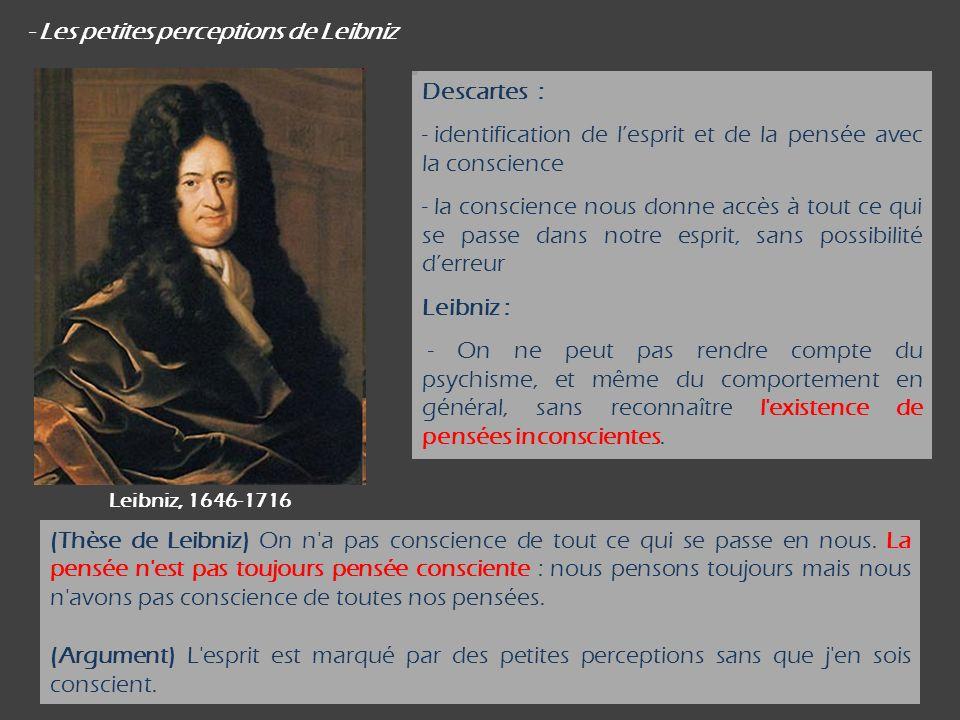 - Les petites perceptions de Leibniz