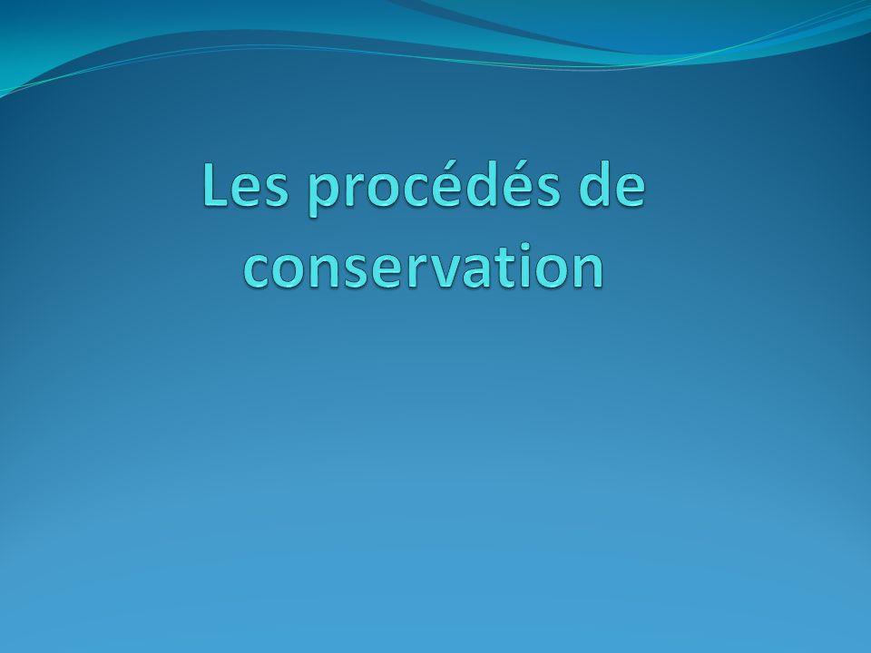 Les procédés de conservation