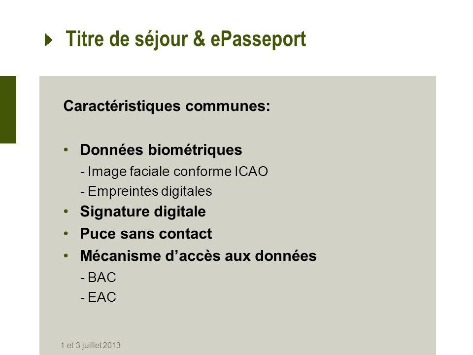 Titre de séjour & ePasseport