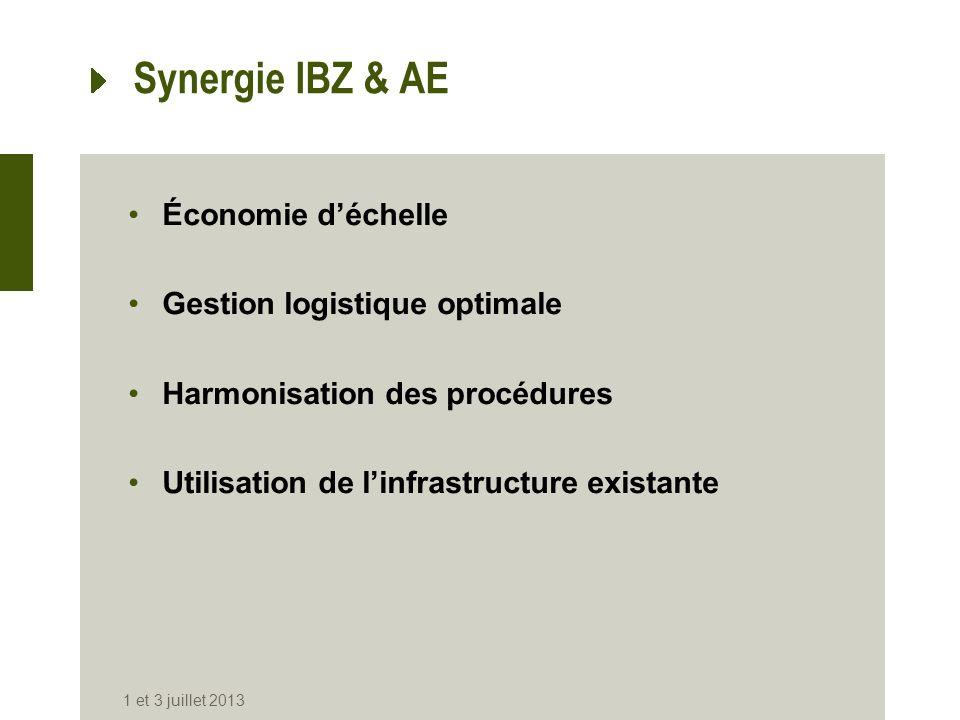 Synergie IBZ & AE Économie d'échelle Gestion logistique optimale