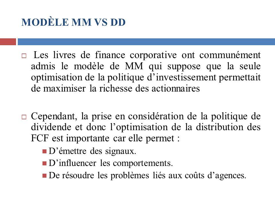 MODÈLE MM VS DD