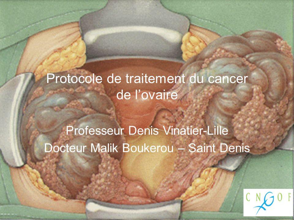 Protocole de traitement du cancer de l'ovaire