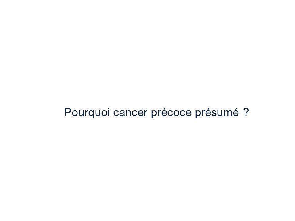 Pourquoi cancer précoce présumé