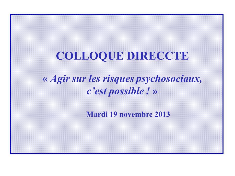 « Agir sur les risques psychosociaux,