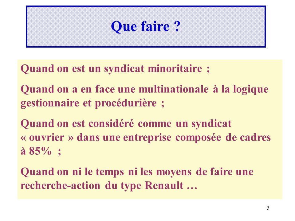 Que faire Quand on est un syndicat minoritaire ;