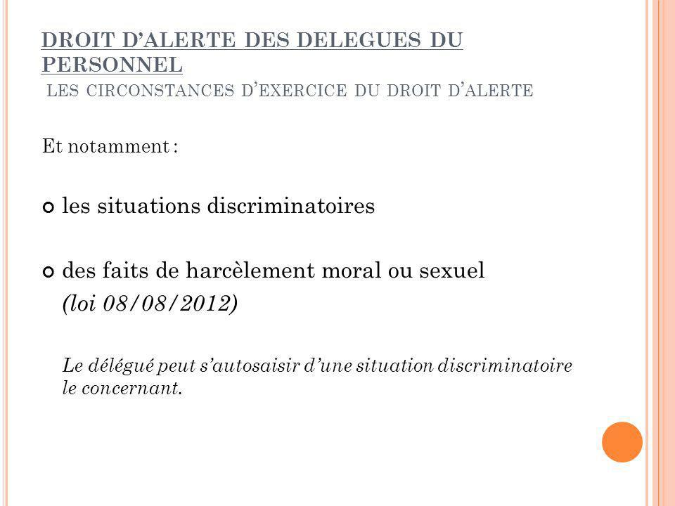 les situations discriminatoires