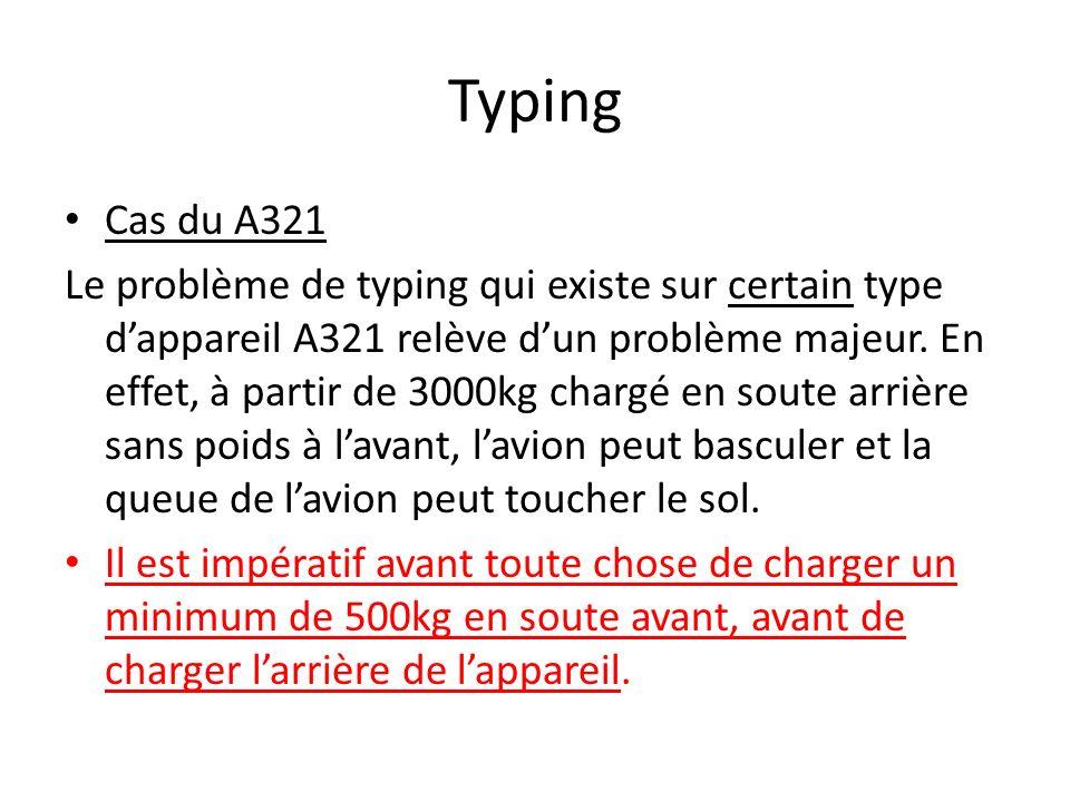 Typing Cas du A321.