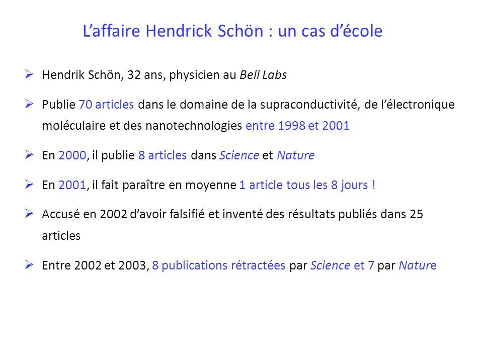 L'affaire Hendrick Schön : un cas d'école