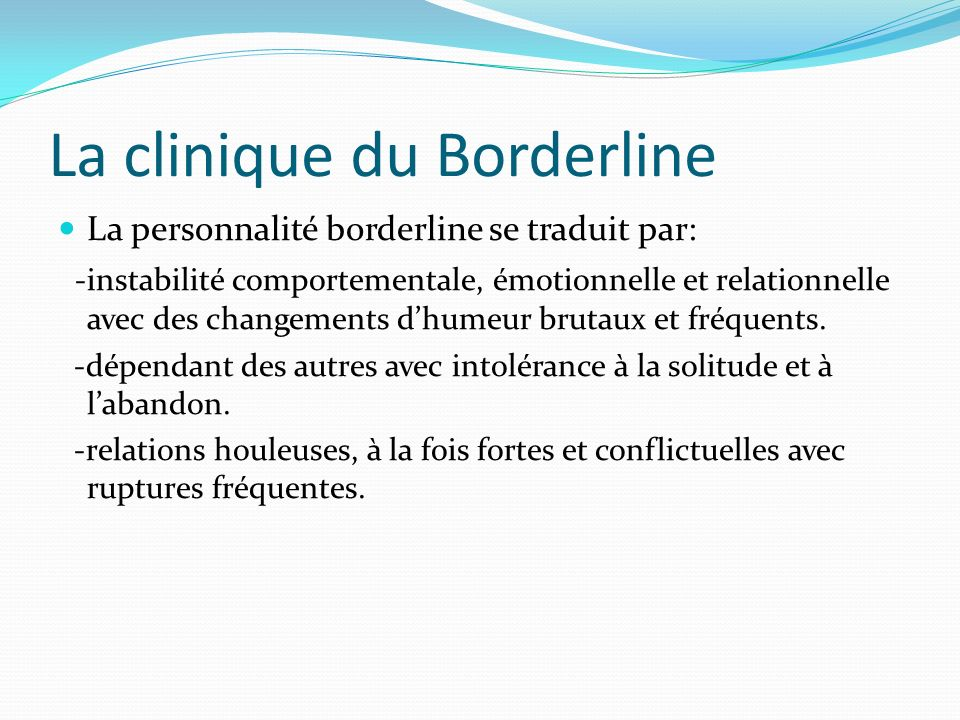La clinique du Borderline