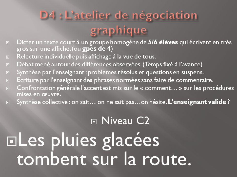 D4 : L'atelier de négociation graphique