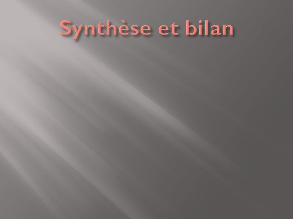 Synthèse et bilan