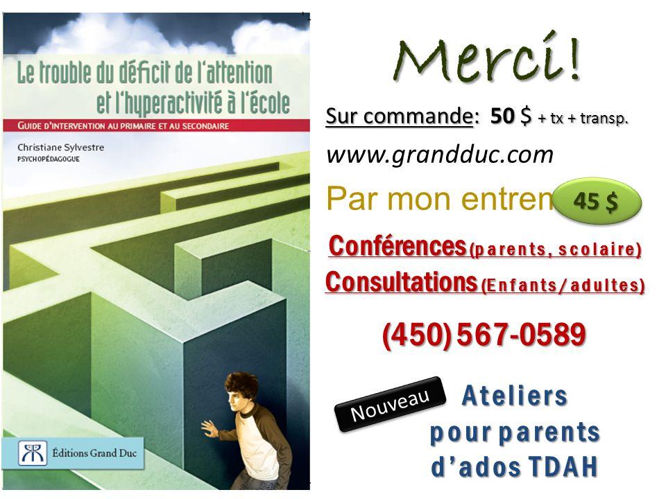 Conférences (parents, scolaire) Consultations (Enfants/adultes)