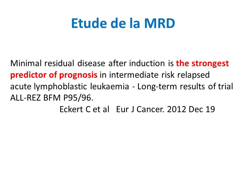 Etude de la MRD