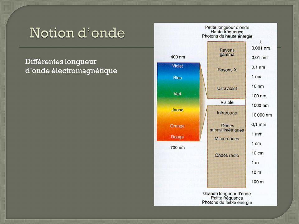 Notion d'onde Différentes longueur d'onde électromagnétique