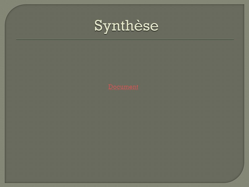 Synthèse Document