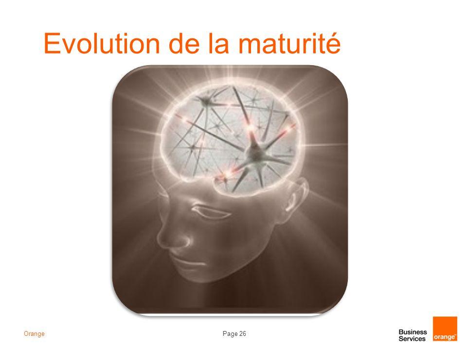 Evolution de la maturité