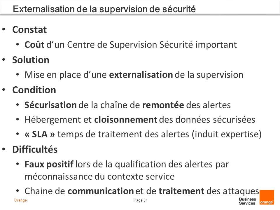 Externalisation de la supervision de sécurité