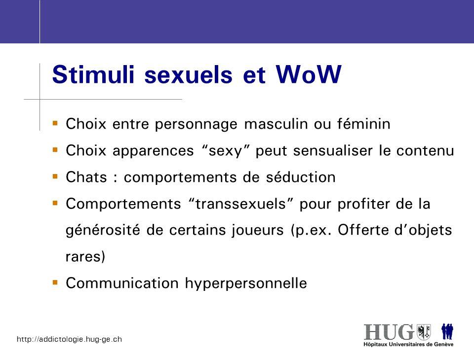 Stimuli sexuels et WoW Choix entre personnage masculin ou féminin