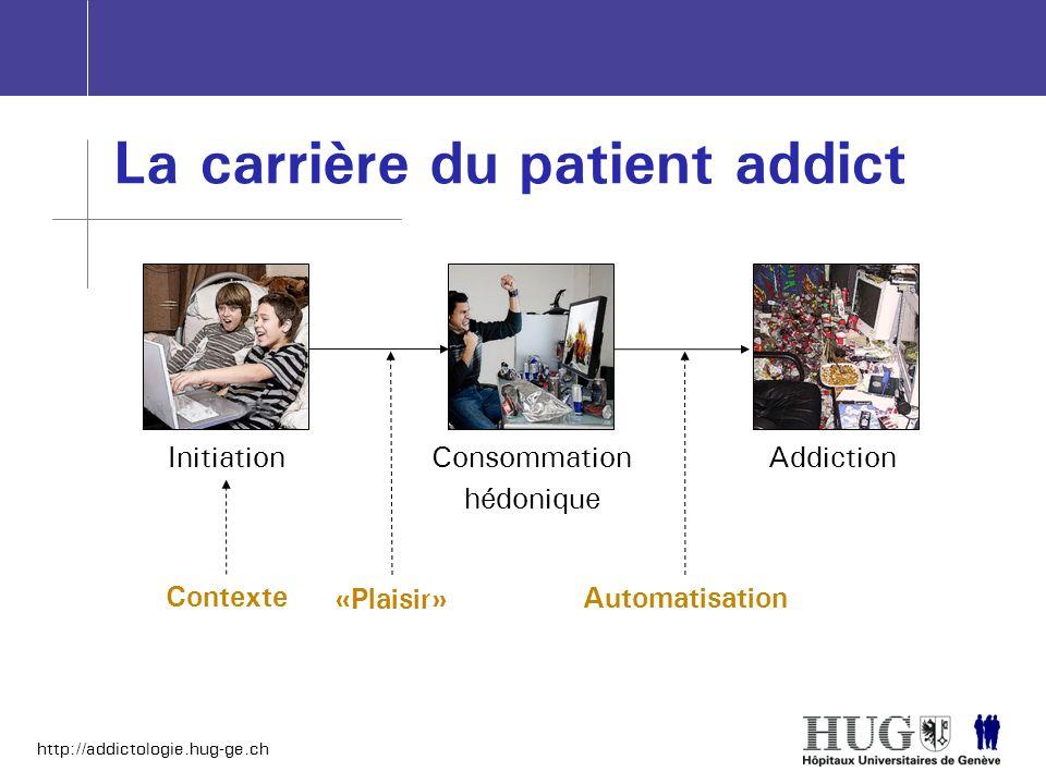 La carrière du patient addict