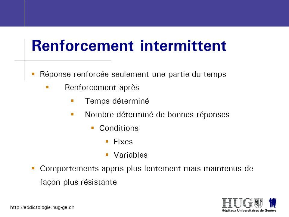 Renforcement intermittent