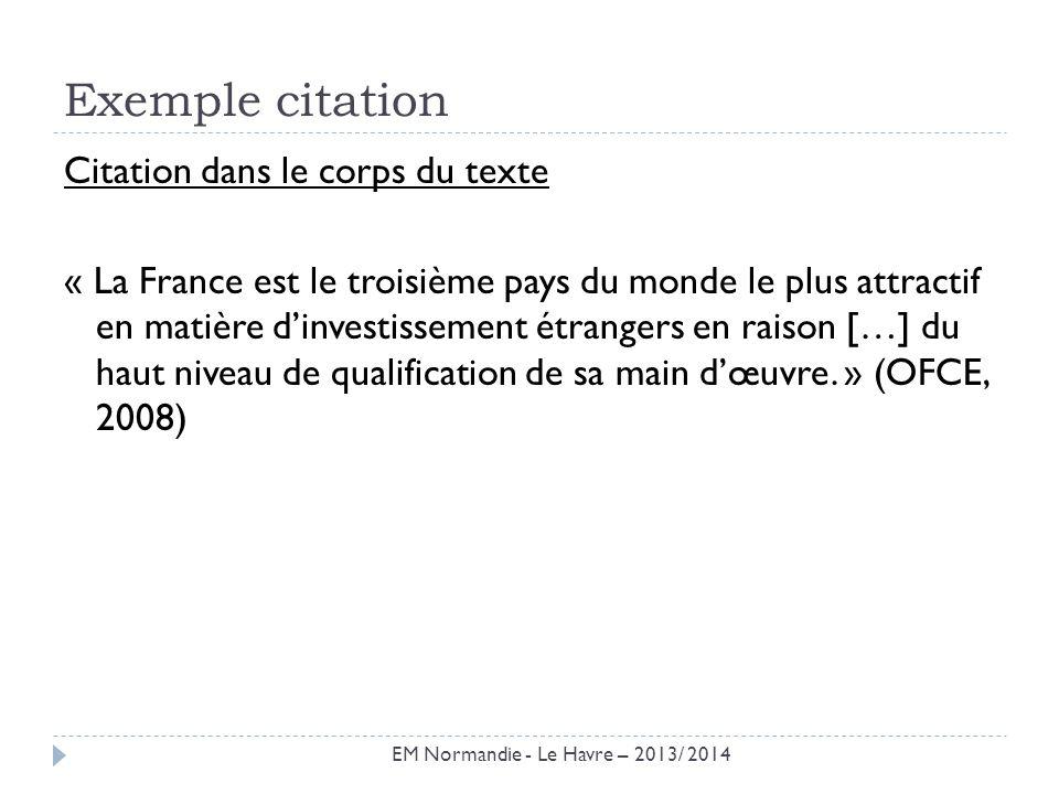 Exemple citation