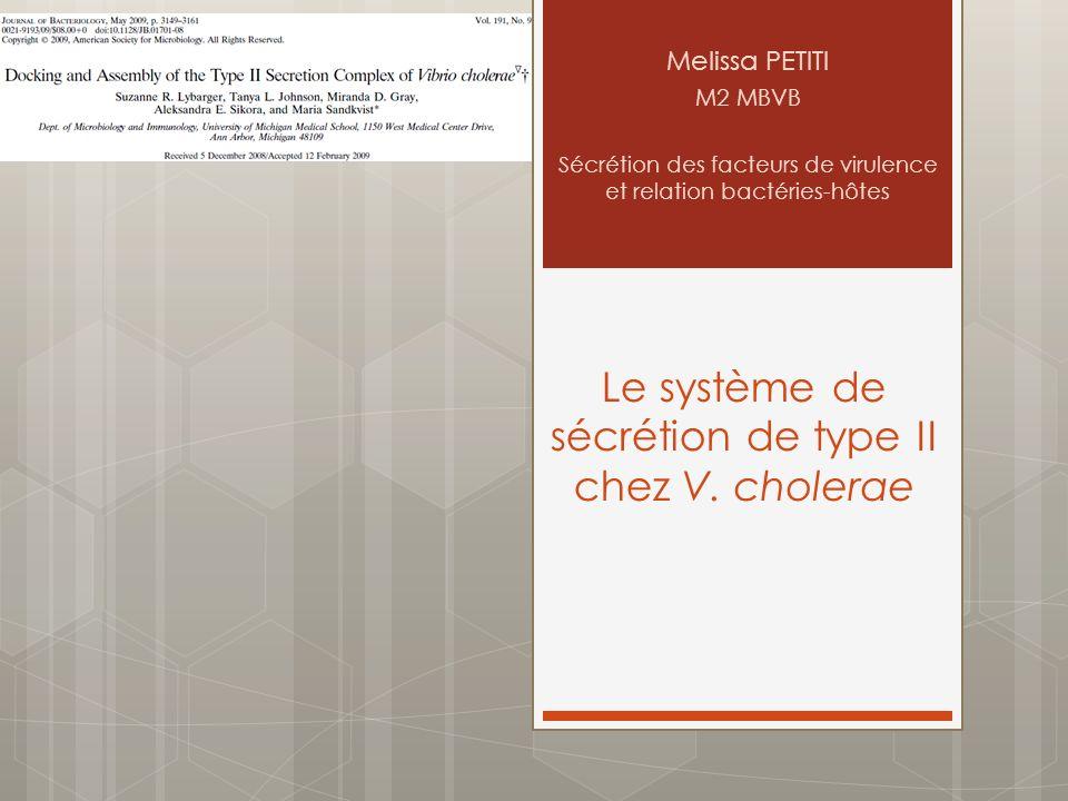 Le système de sécrétion de type II chez V. cholerae