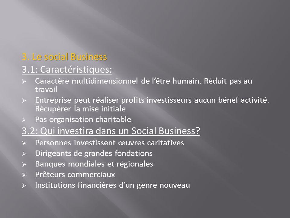3.2: Qui investira dans un Social Business