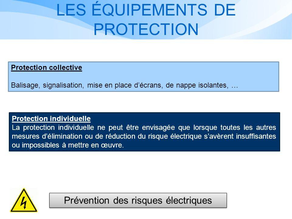 LES ÉQUIPEMENTS DE PROTECTION