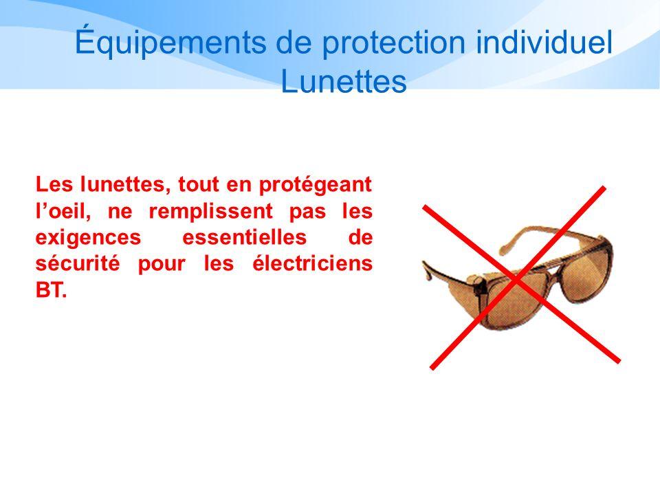 Équipements de protection individuel Lunettes