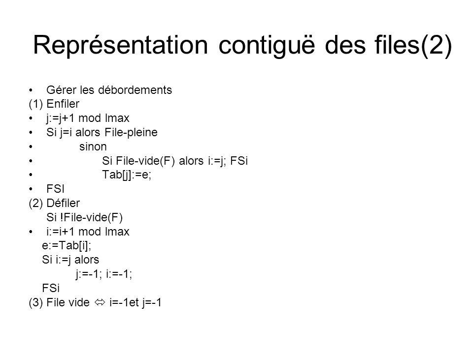 Représentation contiguë des files(2)